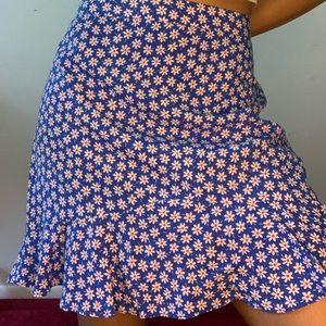 Madewell floral skirt